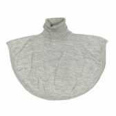 Merino Roll-neck Poncho - Grey