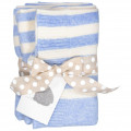 Lambswool Cot Blanket - Sky Blue