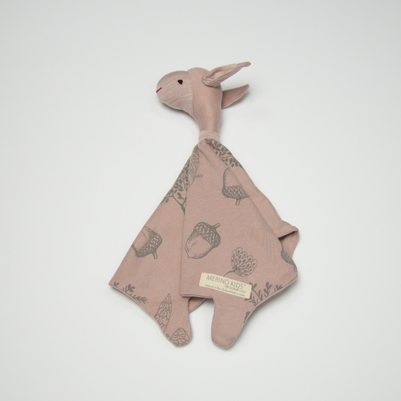 Organic Snuggle Toy - 'Foraging Friends' - Misty Rose