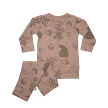 Merino Pyjamas - 'Forgaging Friends' - Misty Rose