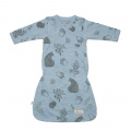 Merino Gown - 'Foraging Friends' -Sky Blue