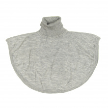 Merino Roll Neck Poncho - Grey