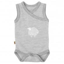Merino Singlet Bodysuit - Grey Print