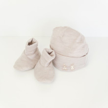 Beanie and Bootie Set - Natural