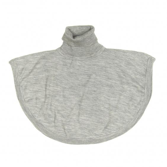 Merino Roll-neck Poncho - Grey