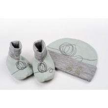 Beanie and Bootie Set - Light Green