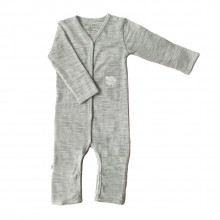 Merino Pyjama Sleep Suit - Grey