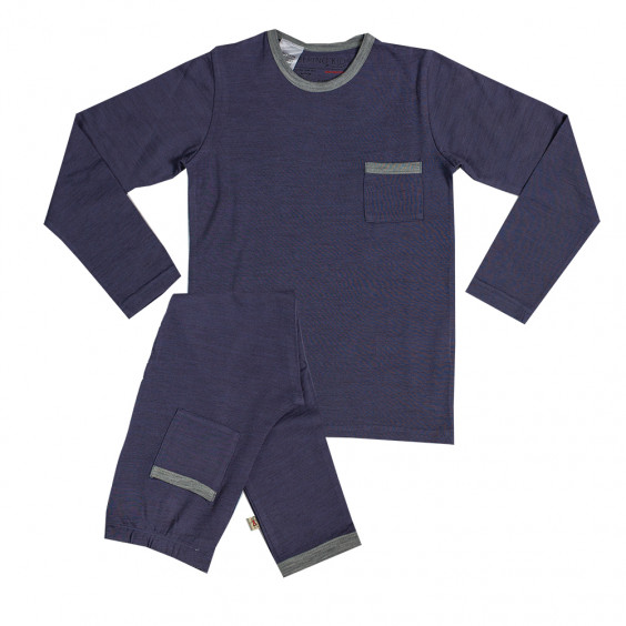 Merino Pyjamas - Big Kids - Denim
