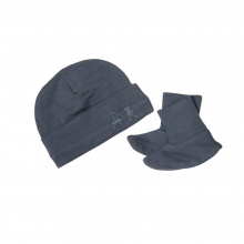 Beanie and Bootie Set - Dark Slate