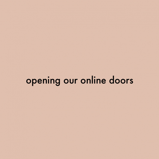Opening Our Online Doors