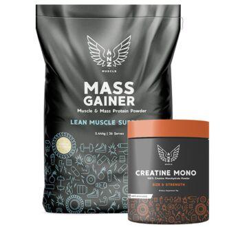 NZ Muscle Mass + Creatine 1Kg