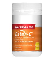 Nutra-Life Ester C 1500mg Plus Bioflavanoids One-A-Day, 100 Tablets