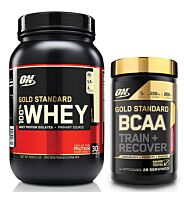 Optimum Nutrition 100% Whey 2Lb + GS BCAA Stack