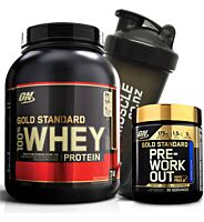Optimum Nutrition 100% Whey 5Lb + GS Pre-Workout Stack