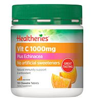 Healtheries Vit C 1000mg Plus Echinacea Chewable