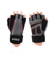 LiveUp Sports Workout Gloves with 12inch Wrist Wrap