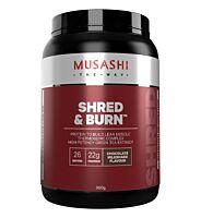 Musashi Shred & Burn Protein 900g