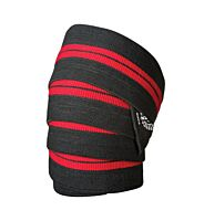NZ Muscle Knee Wraps, Black/Red