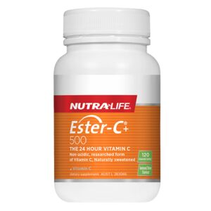 Nutra-Life Ester C 500mg, 120 Chewable Tablets