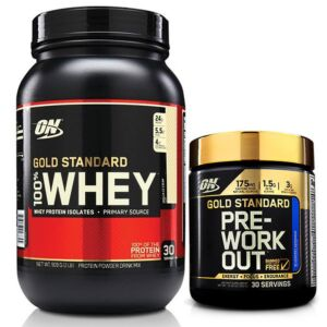 Optimum Nutrition 100% Whey 2Lb + GS Pre-Workout STACK