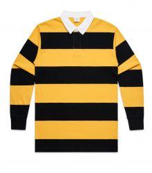 Stripe Cotton Rugby Jersey Gold/Black