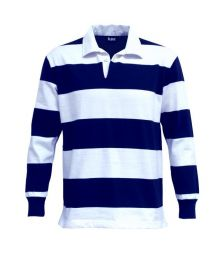 Striped Long Sleeve Rugby Jersey Navy/White