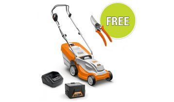 STIHL RMA 235 Battery Lawnmower with Battery & Charger & Free Accessory