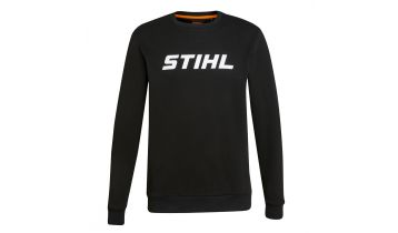 STIHL Black Sweat Shirt with contrasting White Logo on the front