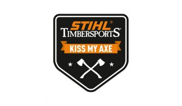 STIHL TIMBERSPORTS Sticker Kiss My Axe Big