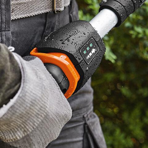 Ergonomic control handle with speed adjustment