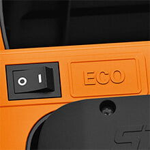 ECO Mode Saves Battery Power