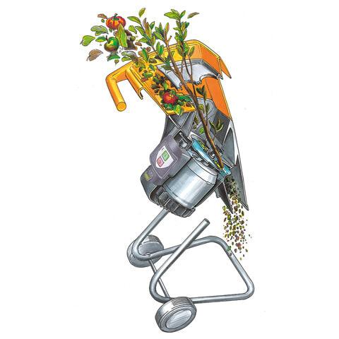 STIHL GHE 105 Garden Chipper feature: Multi Cut 103 cutting system