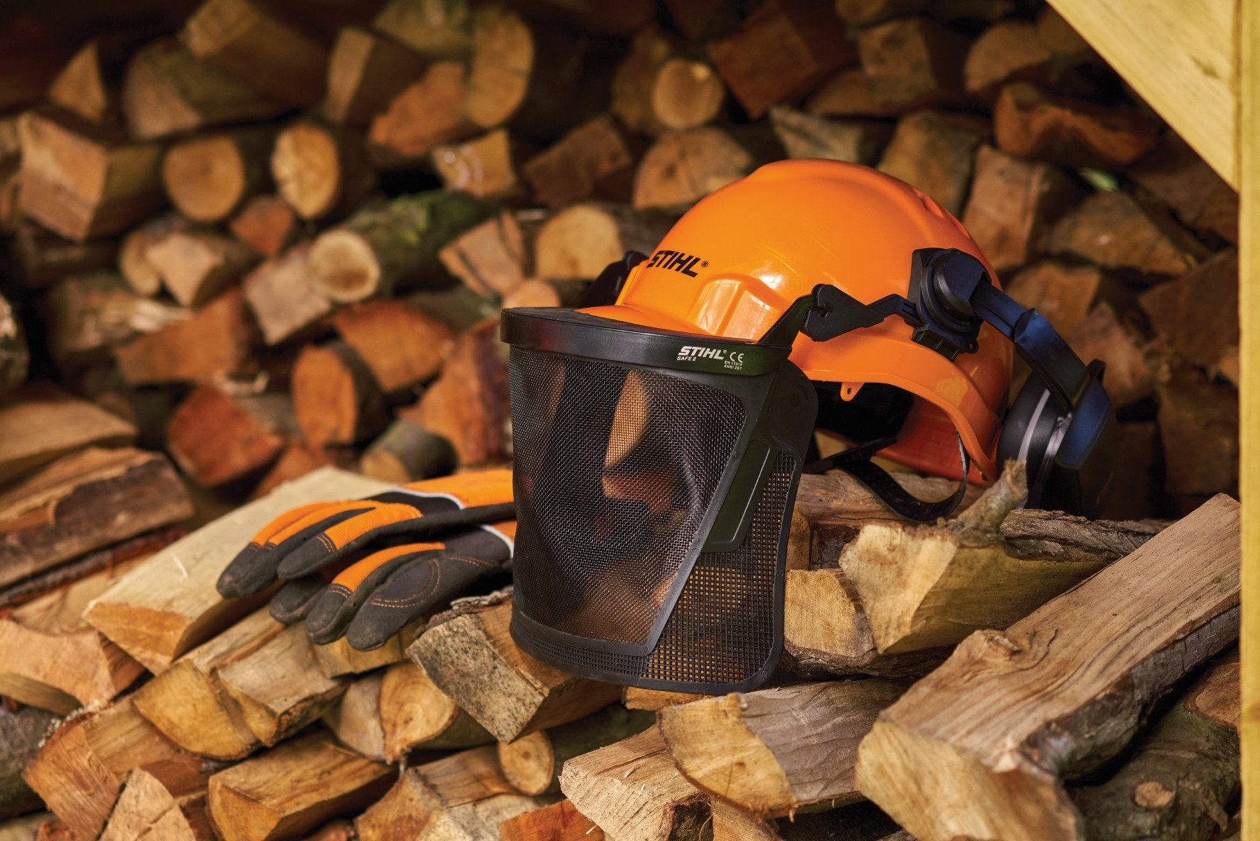 PPE you need for your Chainsaw operation, including helmet and gloves