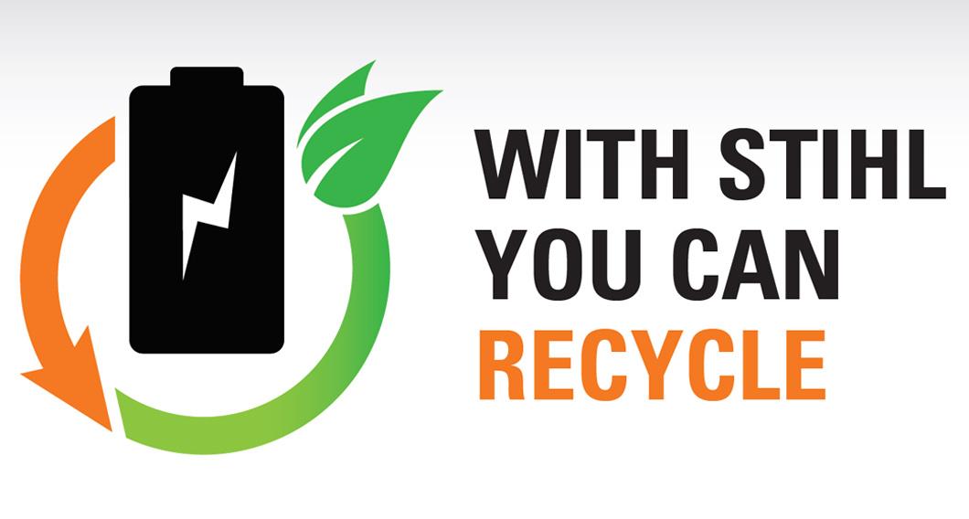 STIHL battery recycling programme
