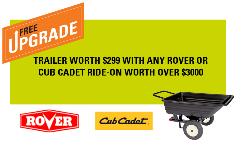Autumn Promotion Ride-on lawnmowers Cub Cadet Rover