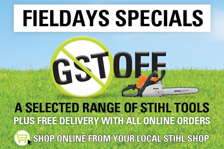 STIHL SHOP GST off Promotion