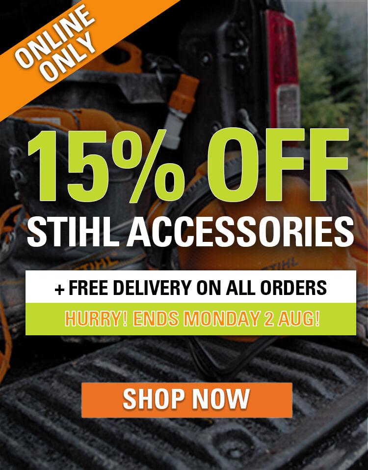 STIHL SHOP 15% off accessories promotion