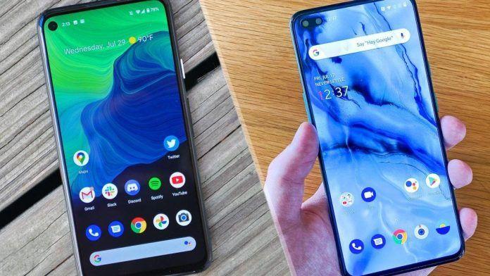 Google-pixel-4A-vs-Oneplus-Nord