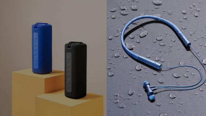 Mi Neckband Bluetooth Earphones Pro and Mi Portable Bluetooth Speaker