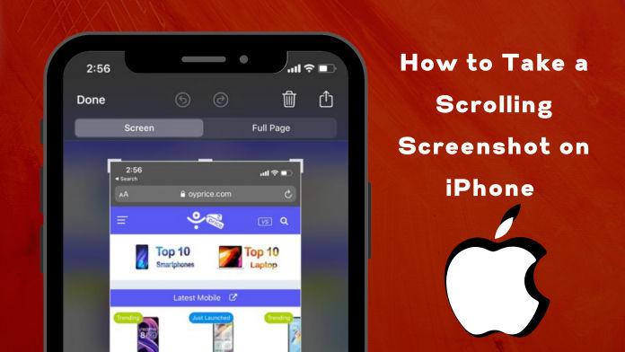 Scrolling Screenshot on iPhone