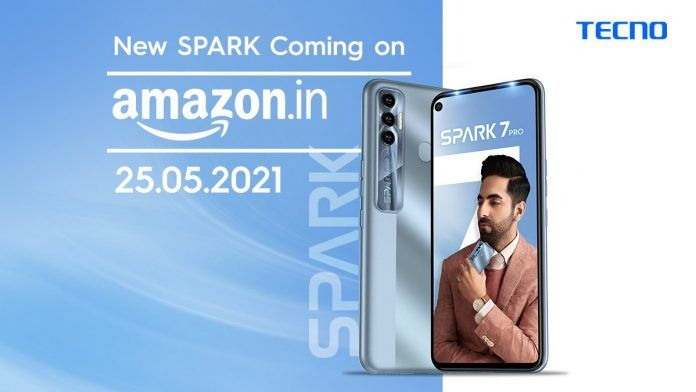 Tecno set to Launch Spark 7 Pro on 25th May on Amazon