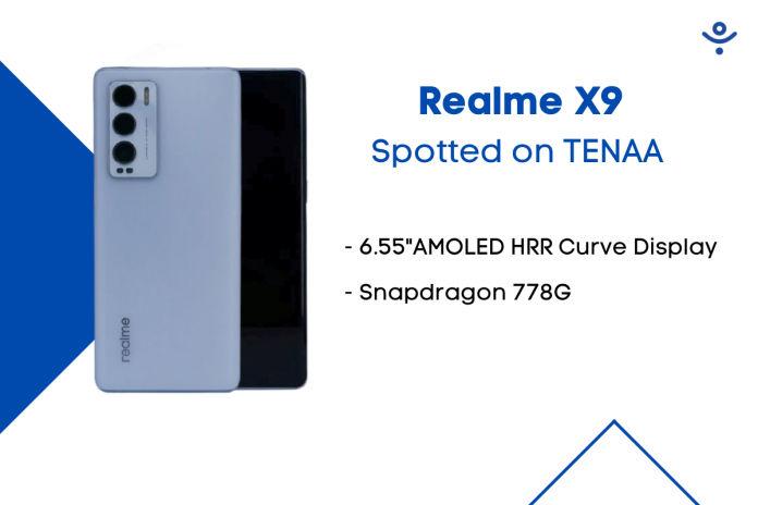Realme X9(RMX3366) Spotted on TENAA