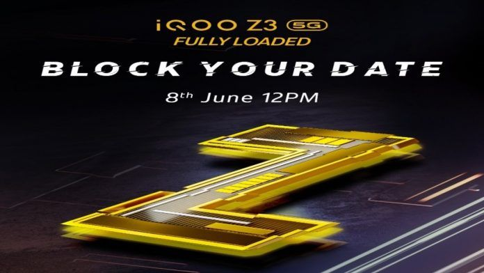 iQOO Z3 Set to Launch on June 8 in India