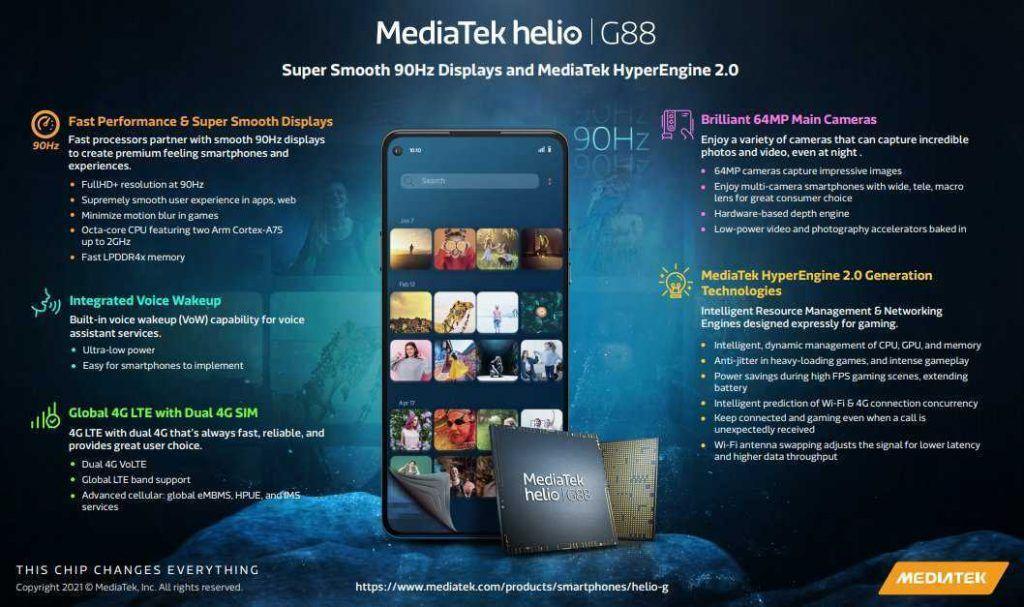 MediaTek Helio G88 chipset full specifications