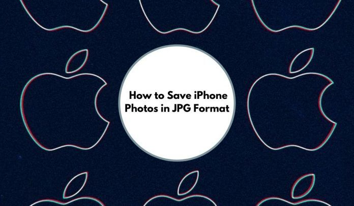 How to Save iPhone Photos in JPG Format