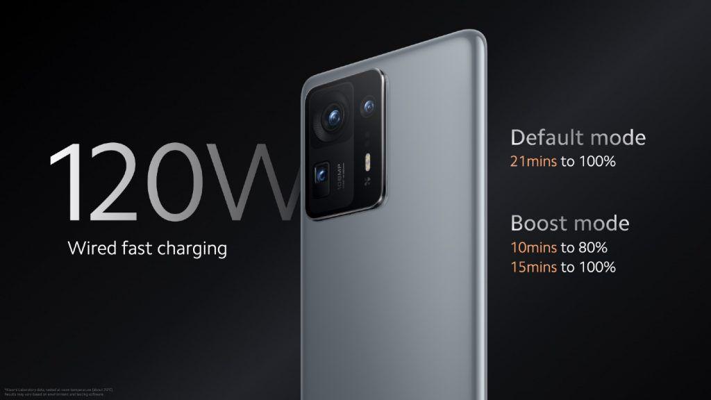 Xiaomi Mi MIX 4 120W charging