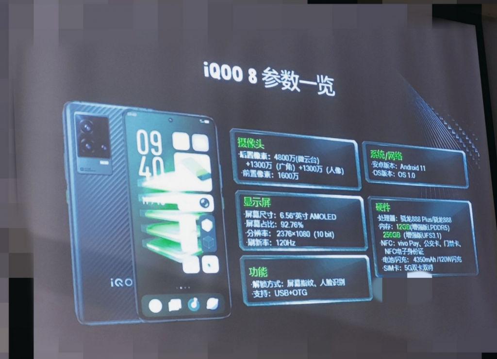 iQOO 8 leaked poster