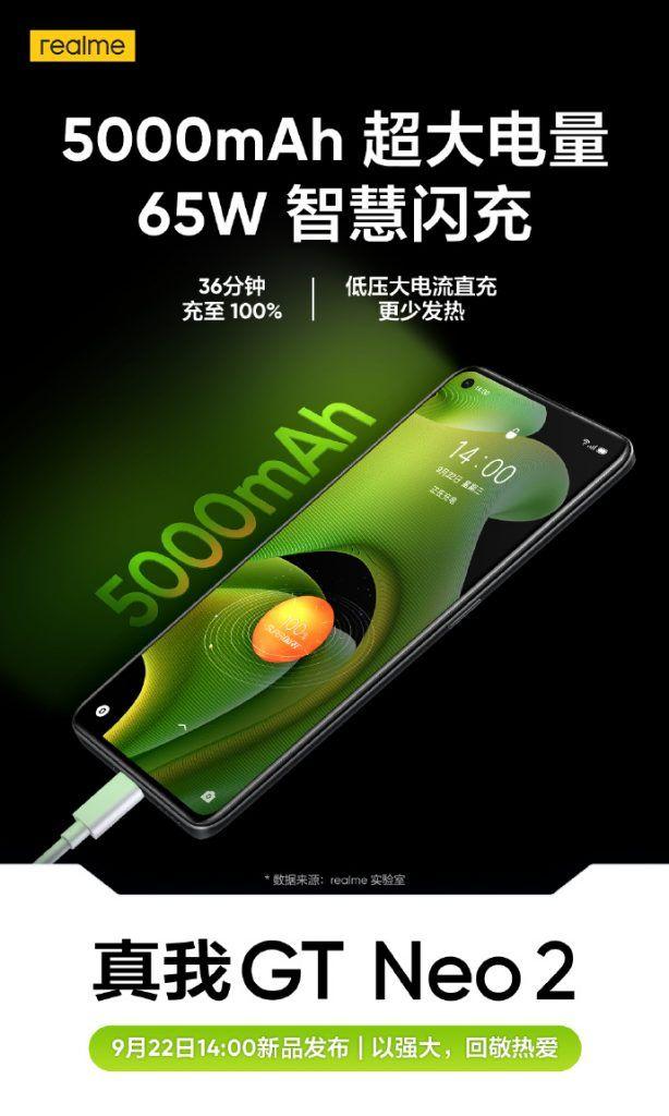 Realme GT Neo 2 battery
