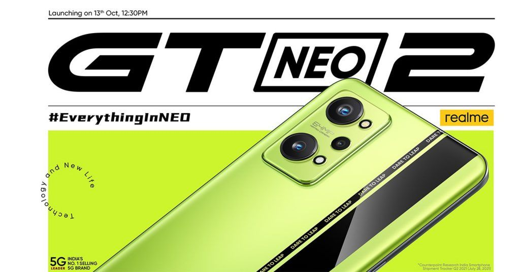 Realme GT Neo 2 India launch poster
