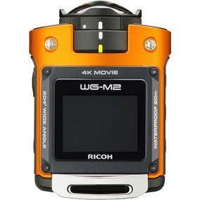 Ricoh WG-M2 (8 MP, Ultra HD 4K) Dust proof Sports & Action Camera (Orange)